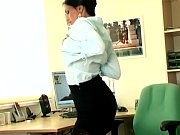 Picture Sexy secretary masturbates in sheer stocking