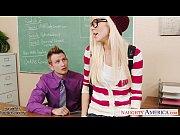 Picture Geeky schoolgirl Halle Von fuck in classroom