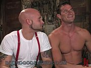 Picture Chained gay cock sucked and anally fucked in...