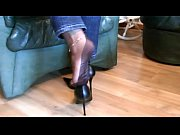Picture Fully Fashioned Stocking Foot tease and Foot...