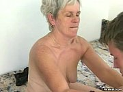Picture Hairy granny tastes young cock