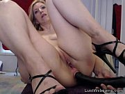Picture Blonde MILF toys her ass on webcam