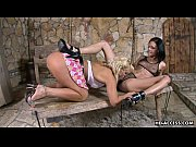 Picture Two hot lesbians dive in to lick the pearly...