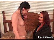 Picture Two horny busty lesbians lick and fuck