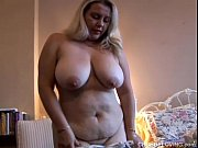 Picture Super cute busty BBW in sexy lingerie plays...