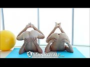 Picture ManRoyale Yoga session for two hot naked guy...