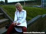 Picture Blonde uk pornstar Crystel Leis public flash...