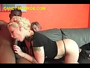Picture Blonde Candy Rubs and Sucks Black