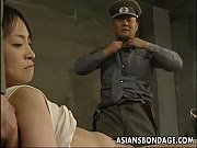 Picture Japanese chick held down and stuffed with fa...