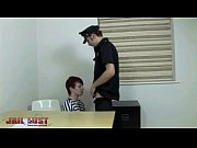Picture Cop gives sexy young prisoner an anal examin...