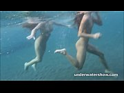 Picture Julia and Masha are swimming nude in the sea