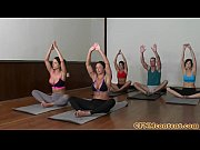 Picture CFNM yoga milf group closeup swapping cum