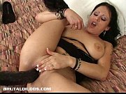 Picture Moxxie uses big black dildos to fill both he...