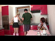 Picture Future mother and Young Girl 18+ toying at t...