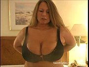 Picture Chubby Blonde Playing with Massive Boobs