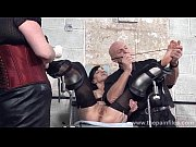 Picture Feet tortures of slave Elise Graves in dunge...