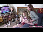 Picture Girls Out West - Hairy and skinny Aussie les...