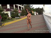 Picture Nude in public. Seafront