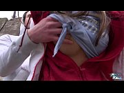 Picture Hot babe Gina Gerson takes a mouthful of cum...