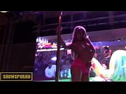Picture Blonde pornstar pole dance striptease on sta...