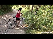Picture Busty biker chick Terry gets nailed in woods