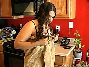 Picture Cute and cuddly chubby latina plays with her...