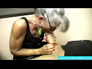 Picture Mature mother with spex sucking cock