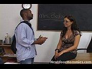 Picture Brunette teacher seduced by black cock