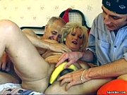 Picture Hairy granny enjoys threesome
