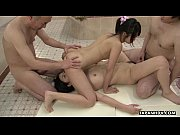Picture Asian sluts fucked in the bath room in a fou...