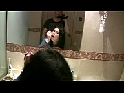 Picture Having fun behind the scene in the bathroom...