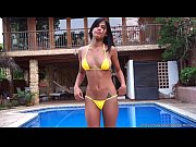 Picture Denise Gomez posing in her yellow bikini