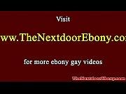 Picture Hunky ebony spitroasted by studs