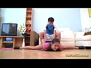 Picture Young Girl 18+ gymnast stretched for flexi s...
