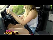 Picture FemaleFakeTaxi Busty blonde creampied by cri...