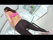 Picture All Internal Brunette newcomer gets double v...