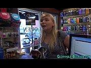 Plump blonde sucks cock