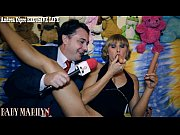 Picture Baby Marilyn gives a blowjob lesson for Andr...