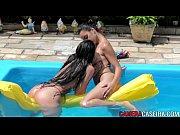 Picture Gatas se pegando na piscina