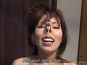 Picture Subtitled CMNF Japanese BDSM nose hooks and...
