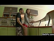 Picture Petite Russian gets assfucked in the kitchen