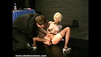 Bizarre sexual slavery of blonde Cherry Torn in...