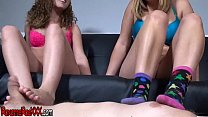 ROXANNE RAE FOOT HUMILIATION WITH ALEX ADAMS AND BRAT