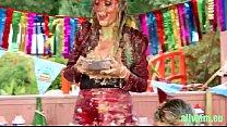 messy birthday cake party