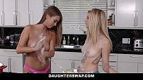 DaughterSwap - hot lesbian teens fuck around before dads get home