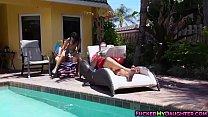Latina cutie Holly Hendrix hot anal poolside fuck