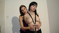 slave her of tits the clips and bondage performs black Sindy