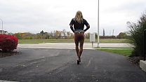 Tanned Blonde Crossdresser in Cheeky Short Shorts, Part 6