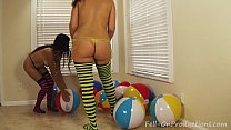 Yesenia Sparkles and Madisin Lee in Yesenia Sparkles Beach Ball F Teen