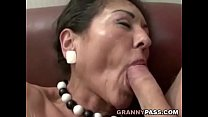pussy hairy her on cum gets granny Hairy